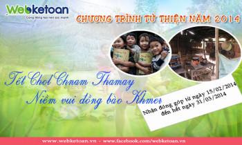 Chương trình từ thiện 2014 tết  CHOL CHNAM THMAY – Niềm vui đồng bào KHMER