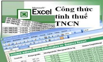 Công thức Excel hỗ trợ tính thuế thu nhập cá  nhân