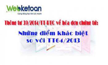 Thông tư 39/2014/TT-BTC: Một số quy định mới về hóa đơn