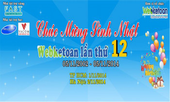 Chương trình họp mặt mừng thành lập Webketoan lần thứ 12 – Năm 2014