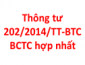 Thông tư 202/2014/TT-BTC về báo cáo tài chính hợp nhất