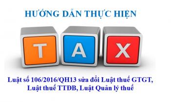 Hướng dẫn thực hiện Luật số 106/2016/QH13 từ Bộ Tài Chính