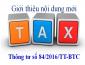 Giới thiệu nội dung mới của Thông tư số 84/2016/TT-BTC về thủ tục thu nộp NSNN đối với các khoản thuế và thu nội địa
