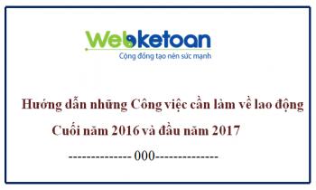 Công việc về lao động cần làm cuối năm 2016 và đầu năm 2017