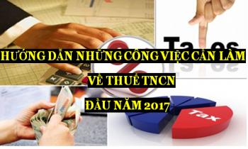 Những việc doanh nghiệp cần phải làm đầu năm 2017 về Thuế TNCN