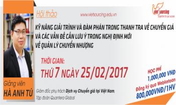 """TP HCM_Hội Thảo """"Kỹ Năng Giải Trình, Đàm Phán Trong Thanh Tra Về Chuyển Giá """""""