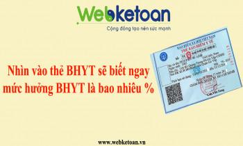 Nhìn vào thẻ BHYT, sẽ biết ngay được mức hưởng BHYT là bao nhiêu %