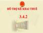 Nâng cấp ứng dụng Hỗ trợ kê khai tờ khai mã vạch (HTKK) phiên bản 3.4.2