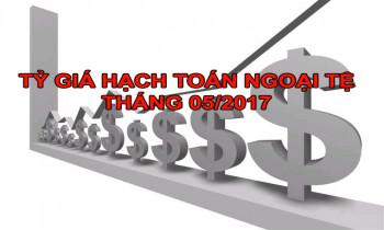 Tỷ giá hạch toán ngoại tệ tháng 05/2017