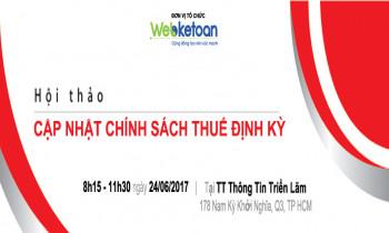 Webketoan CLB Kế Toán Trưởng DNNVV – Hội thảo cập nhật chính sách thuế kỳ 5 ngày 24/06/2017