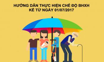 Hướng dẫn thực hiện các chế độ BHXH từ ngày 1/7/2017
