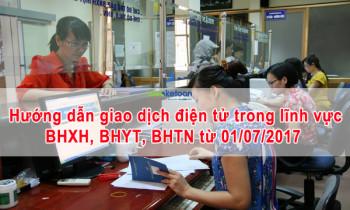 Hướng dẫn thực hiện giao dịch điện tử trong lĩnh vực BHXH, BHYT, BHTN từ ngày 01/07/2017