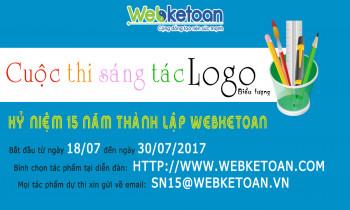 Cuộc thi sáng tác logo cho sinh nhật Webketoan 15 năm thành lập
