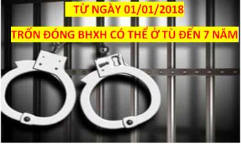Năm 2018, trốn đóng BHXH cho người lao động có thể ở tù đến 07 năm