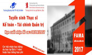 Tuyển sinh Thạc sĩ Kế toán – Tài chính Quản trị, liên kết Việt – Đức, Khóa 6 (FAMA6) – 2017