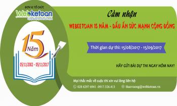 """Cuộc thi """"Webketoan 15 năm – Dấu ấn sức mạnh cộng đồng"""""""