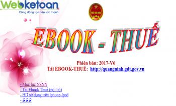 Ebook Thuế phiên bản V6, cập nhật ngày 24/08/2017