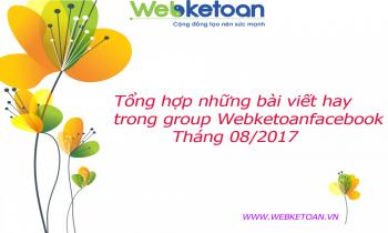 Tổng hợp những bài viết hay trong group Webketoanfacebook