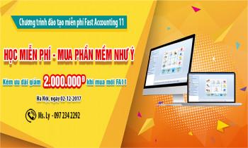 """Chương trình đào tạo phần mềm kế toán Fast Accounting 11 """"HỌC MIỄN PHÍ-MUA PHẦN MỀM NHƯ Ý"""""""
