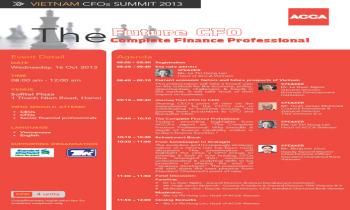 Hội thảo các giám đốc tài chính 2013 CFO tương lai: Chuyên gia tài chính toàn diện