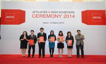 ACCA tổ chức lễ chúc mừng học viên hoàn tất chương trình ACCA và đạt thành tích xuất sắc các kỳ thi ACCA năm 2013