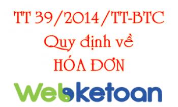 Mục lục thông tư 39/2014/TT-BTC về hóa đơn