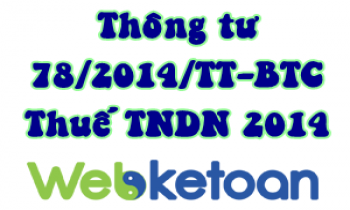 Mục lục thông tư 78/2014/TT-BTC hướng dẫn thuế TNDN 2014