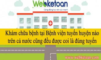 Khám chữa bệnh tại Bệnh viện tuyến huyện nào trên cả nước cũng đều được coi là đúng tuyến