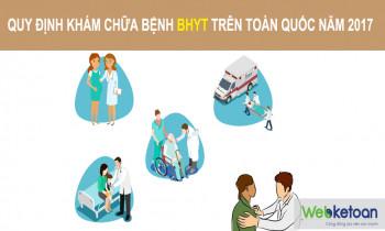 Quy định về khám chữa bệnh BHYT toàn quốc năm 2017