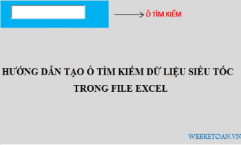 Hướng dẫn tạo ô tìm kiếm dữ liệu siêu tốc trong file excel