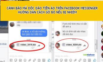 Cảnh báo mã độc đào tiền ảo trên Facebook Messenger