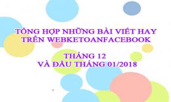 Tổng hợp những bài viết hay trên group Webketoanfacebook tháng 12 và đầu tháng 01/2018