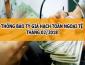 Thông báo tỷ giá hạch toán ngoại tệ tháng 02 năm 2018