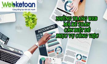 Những trang web hữu ích mà Kế toán cần phải biết để phục vụ công việc