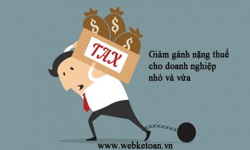 Chính sách miễn giảm thuế cho doanh nghiệp nhỏ và vừa