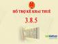 Nâng cấp HTKK lên phiên bản 3.8.5