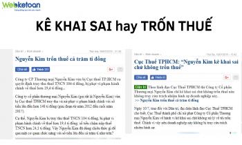 """Nguyễn Kim """"kê khai sai"""" hay """"trốn thuế""""?"""