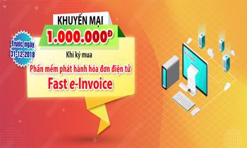 Khuyến mại 1.000.000Đ khi mua phần mềm hóa đơn điện tử Fast e-Invoice