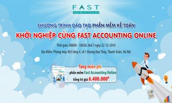 """Chương trình đào tạo phần mềm kế toán miễn phí: """"Khởi nghiệp cùng Fast Accounting Online"""""""