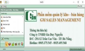 Phần mềm quản lý bán hàng GM Sales Management