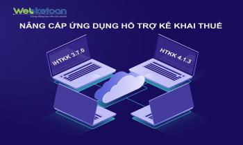 Thông báo nâng cấp ứng dụng HTKK 4.1.3, iHTKK 3.7.0, eTax 1.5.5