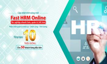 Giảm ngay 10.000.0000đ khi mua phần mềm quản lý nhân sự Fast HRM Online