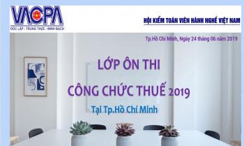 Lớp ôn thi công chức thuế 2019 tại TP. Hồ Chí Minh