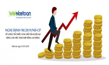 Nghị định 90/2019/NĐ-CP về lương tối thiểu vùng năm 2020