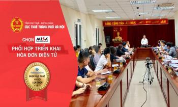 MISA là nhà cung cấp hóa đơn điện tử hàng đầu được Cục Thuế Thuế TP Hà Nội lựa chọn phối hợp