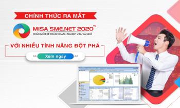 Chính thức ra mắt MISA SME.NET 2020 – Cách mạng về phần mềm kế toán
