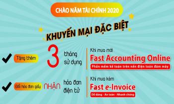 FAST khuyến mại đặc biệt chào mừng năm tài chính mới 2020