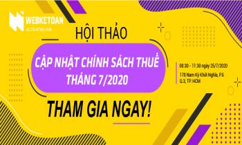 Hội thảo cập nhật chính sách thuế tháng 7/2020 – Hồ Chí Minh