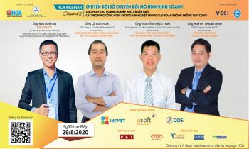 """HCA webinar: Chuyên đề 2 """"Giải pháp cho doanh nghiệp nhỏ và siêu nhỏ. Các ứng dụng công nghệ cho doanh nghiệp trong giai đoạn phòng chống dịch Covid"""""""