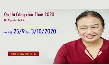 Lớp ôn thi Công chức 2020 từ 25/9/2020 đến 3/10/2020